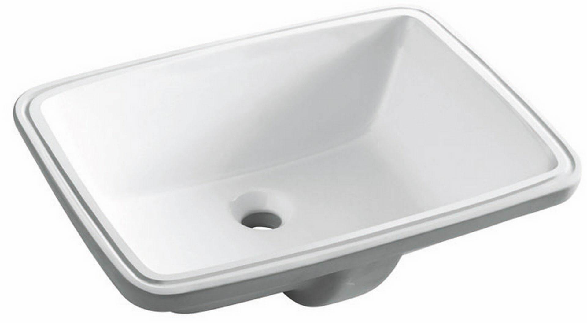 Umywalka podblatowa,Torino 0051B, biała