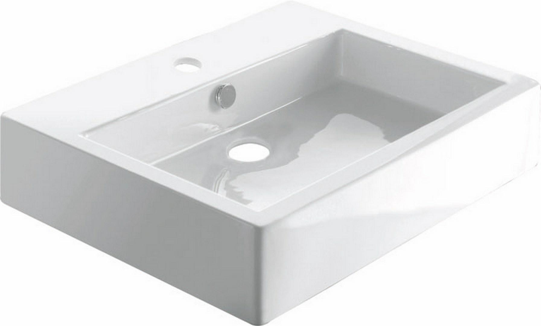 Umywalka nablatowa, Cancun 0017E, biała